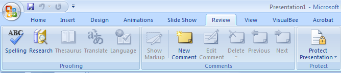 Review Tab In Powerpoint Powerpoint Presentation