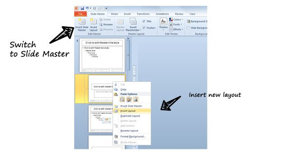 Insert a Custom Layout in PowerPoint