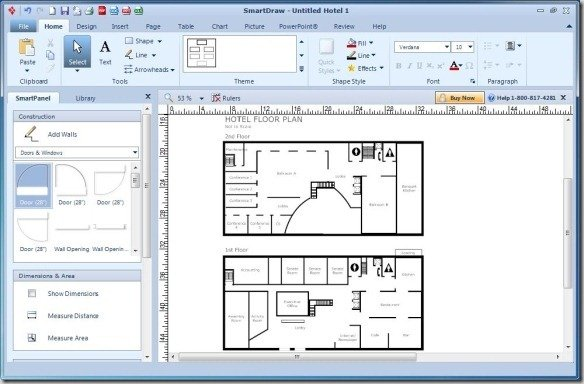Create diagrams for powerpoint using smartdraw for Free floor plan template excel