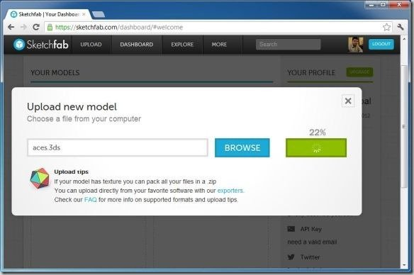 Share 3d Content And Create Professional Portfolio Using