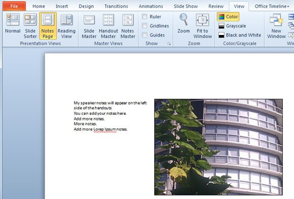 how to print powerpoint pdf with notes