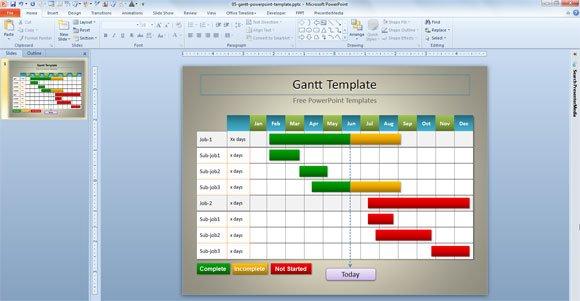 Alfa img - Showing u0026gt; PowerPoint Gantt Chart Template
