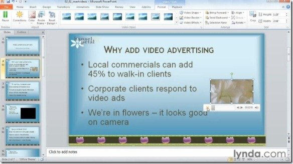 PowerPoint 2010: Audio And Video in Depth Training Course ...