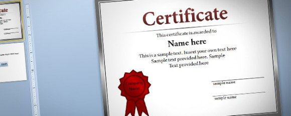 powerpoint award certificate template .