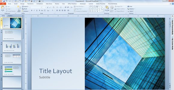 Free glass cube marketing powerpoint 2013 template for Professional looking powerpoint templates
