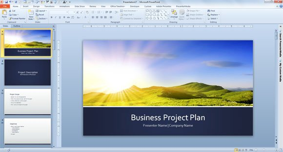 Powerpoint business plan template flashek