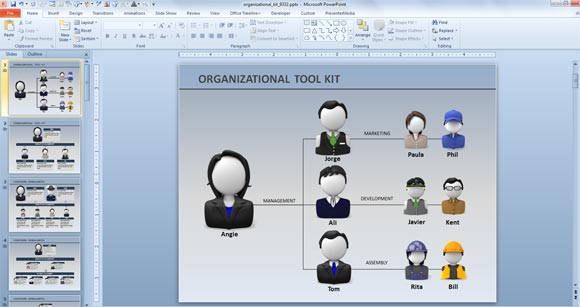 Animated Org Chart PowerPoint Templates | PowerPoint Presentation