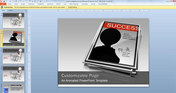 animated magazine powerpoint templates powerpoint