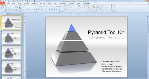 3d pyramid powerpoint templates toolkit powerpoint