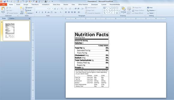 how to make a nutrition facts label for free for your nutrition powerpoint templates and. Black Bedroom Furniture Sets. Home Design Ideas