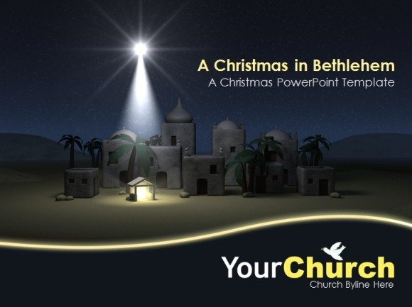 ... PowerPoint Presentations For Church With Bethlehem PowerPoint Template