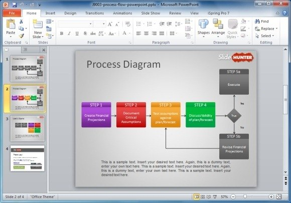 powerpoint process flow chart template .