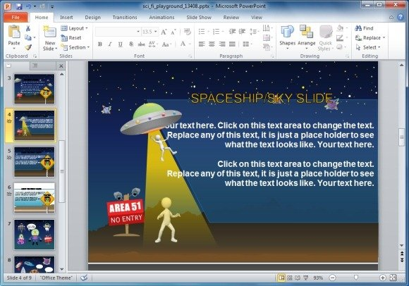 Best storyboard templates for powerpoint aliens powerpoint template toneelgroepblik Image collections