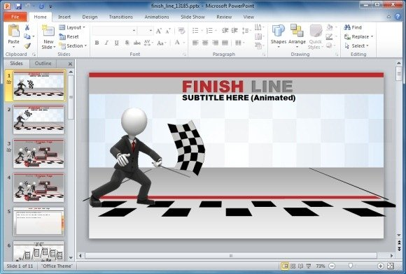 racing powerpoint template