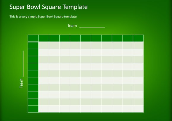 ... Football Squares Template using PowerPoint | PowerPoint Presentation