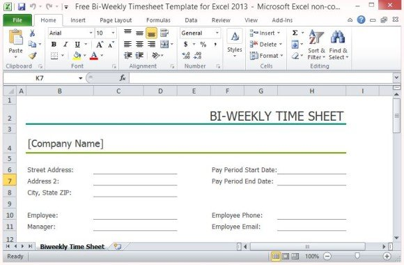 microsoft office excel templates timesheet