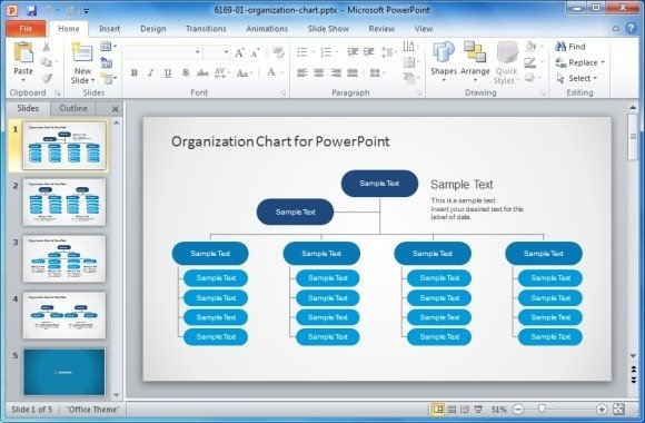Best Organizational Chart Templates For PowerPoint : PowerPoint ... : org chart in ppt template : Sample Chart Templates