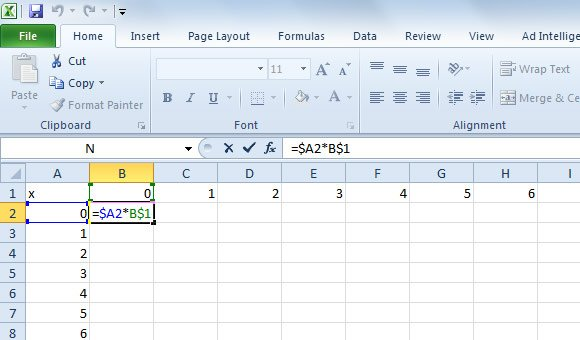 how to create column headers in excel 2013