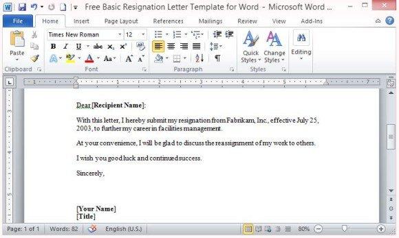 Standard resignation letter kak2tak standard resignation letter spiritdancerdesigns Images