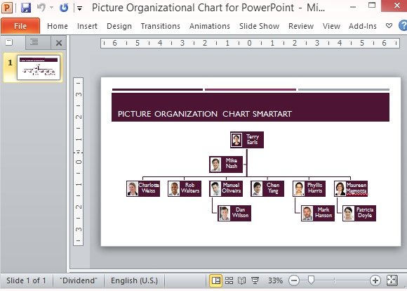 Free Organizational Chart Template Powerpoint - Org chart template powerpoint free download