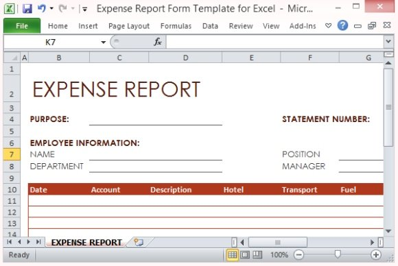 expense manager excel template