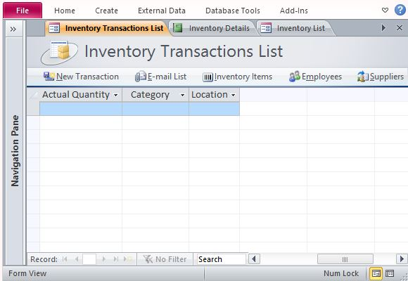Free Inventory Management Template For Access Powerpoint