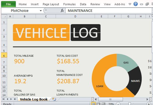 ... Expenses With Vehicle Log Book For Excel | PowerPoint Presentation
