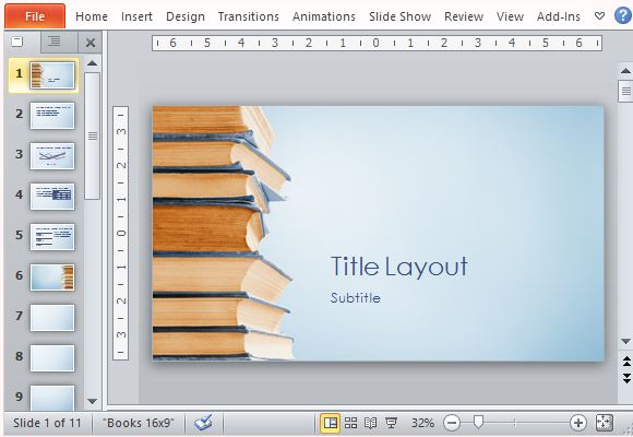 bookstack educational powerpoint template powerpoint presentation