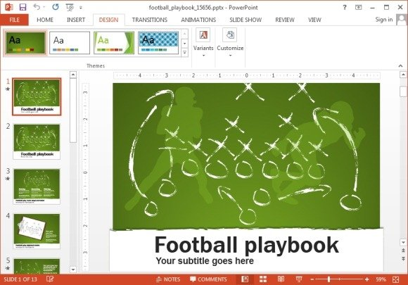 Free Football Play Templates Football Play Templates