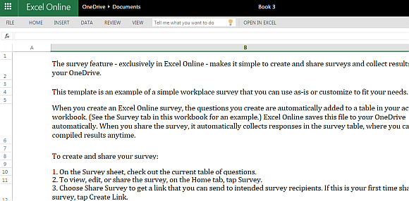 Workplace Survey Template For Excel Online Powerpoint