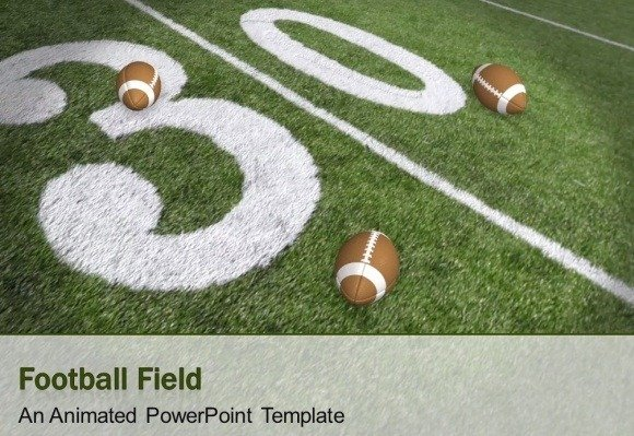 Animated Super Bowl PowerPoint template NFL