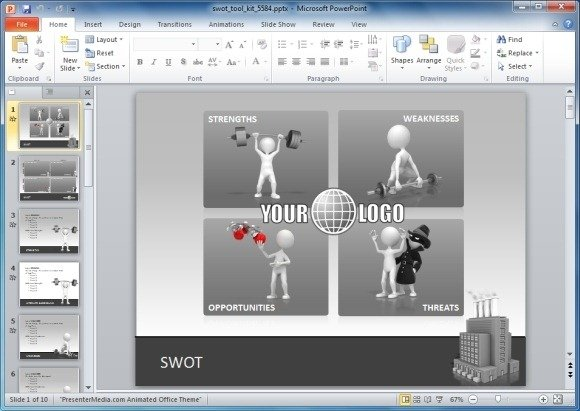 How to create a swot analysis swot analysis powerpoint template toneelgroepblik