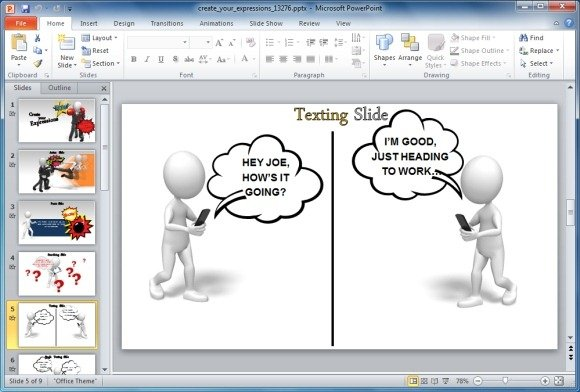 Useful bubbles shapes for powerpoint presentations for Interactive storyboard template